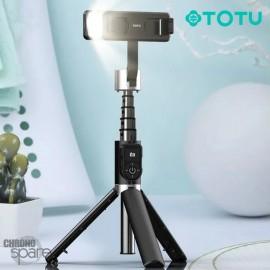 Perche à Selfie Bluetooth avec led TOTU noir ( FGSS-003)