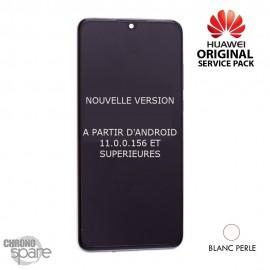 Bloc écran LCD + vitre tactile Huawei P30 blanc Nacré (officiel) NOUVELLE VERSION