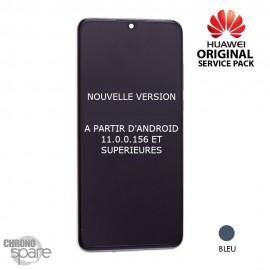 Bloc écran LCD + vitre tactile Huawei P30 bleu aurora (officiel) NOUVELLE VERSION