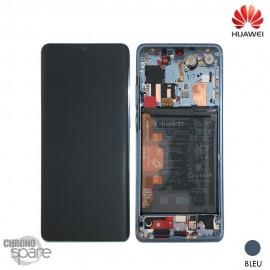Bloc écran OLED + vitre tactile + batterie Huawei P30 Pro Bleu (officiel)