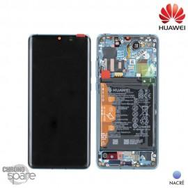 Bloc écran OLED + vitre tactile + batterie Huawei P30 Pro Nacré (officiel)