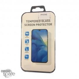 Vitre de protection incurvé 3D en verre trempé iPhone X/XS blanc avec boite (PREMIUM)