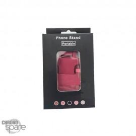 Support en Métal pliable rose Smartphone/Tablette avec packaging