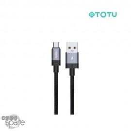 Câble data USB vers micro 1 M 2,4A gris TOTU (BM-001)