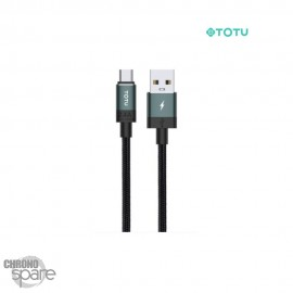 Câble data USB vers micro 1 M 2,4A vert foncé TOTU (BM-001)