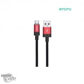Câble data USB vers micro 1 M 2,4A rouge TOTU (BM-001)