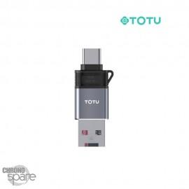 Lecteur de carte type C + USB TOTU (FGCR-007)
