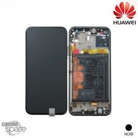 Vitre tactile et écran LCD + vitre tactile + batterie Huawei P40 Lite noir (officiel)