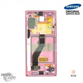 Vitre tactile et écran LCD Samsung Galaxy Note 10 SM-N970 (officiel) Rose