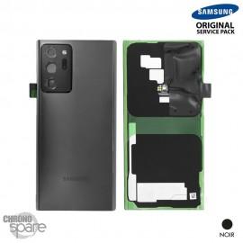 Vitre arrière + vitre caméra Samsung Galaxy Note 20 Ultra N985F/986B noire (Officiel)