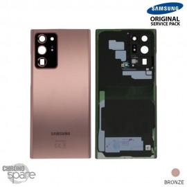 Vitre arrière + vitre caméra Samsung Galaxy Note 20 Ultra N985F/986B bronze (Officiel)