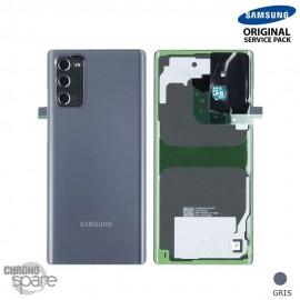 Vitre arrière + vitre caméra Samsung Galaxy Note 20 N980F gris (Officiel)