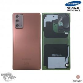 Vitre arrière + vitre caméra Samsung Galaxy Note 20 N980F bronze (Officiel)