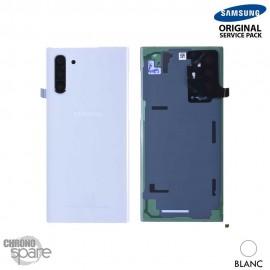 Vitre arrière + vitre caméra Samsung Galaxy Note 10 SM-N970 blanc (Officiel)