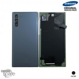 Vitre arrière + vitre caméra Samsung Galaxy Note 10 SM-N970 noire (Officiel)
