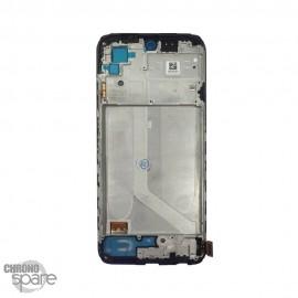Ecran LCD + vitre tactile avec chassis noir Xiaomi redmi note 10 4G