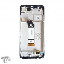 Ecran LCD + vitre tactile avec chassis noir Xiaomi redmi note 10 5G