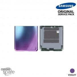 Vitre arrière violette (Partie inférieure) Samsung Galaxy Z Flip F700 (officiel)
