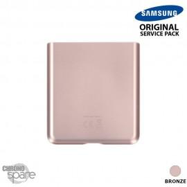 Vitre arrière bronze (Partie inférieure) Samsung Galaxy Z Flip 5G F707 (officiel)