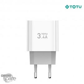Chargeur secteur 18W 2 USB TOTU
