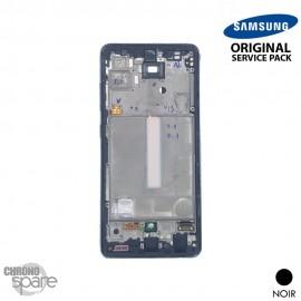 Ecran LCD + Vitre Tactile + châssis Noir Samsung Galaxy A52 5G A525F (officiel)