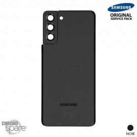 Vitre arrière + vitre caméra noir Samsung Galaxy S21 Plus G996F (Officiel)