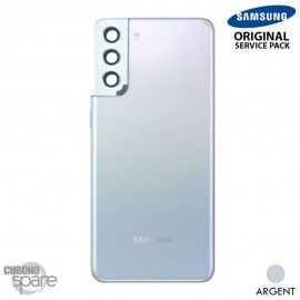 Vitre arrière + vitre caméra Argent Samsung Galaxy S21 Plus G996F (Officiel)