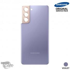 Vitre arrière + vitre caméra Violet Samsung Galaxy S21 Plus G996F (Officiel)