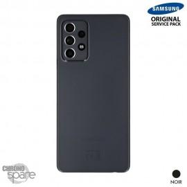 Vitre arrière + vitre caméra Noire Samsung Galaxy A52 5G (Officiel)
