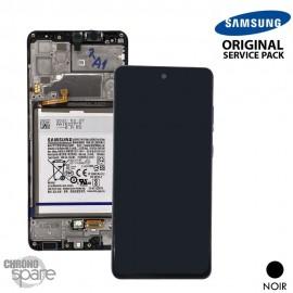 Ecran LCD + Vitre Tactile + châssis noir Samsung Galaxy A32 4G A325F (officiel) Avec Batterie