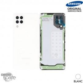 Vitre arrière + vitre caméra Noir Samsung Galaxy A22 4G A225B (officiel)