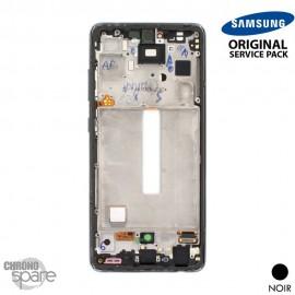 Ecran LCD + Vitre Tactile + châssis Noir Samsung Galaxy A52S 5G A528F (officiel)