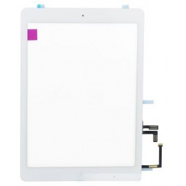 Vitre tactile blanche + bouton home + iPad Air