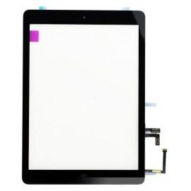 Vitre tactile noire + bouton home + iPad Air