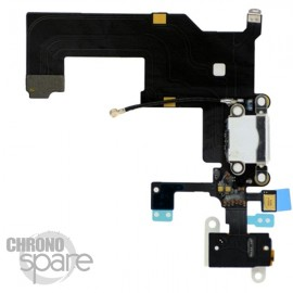 Nappe dock alimentation et jack audio iPhone 5 blanc