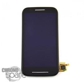 Vitre Tactile + Ecran LCD+ Châssis noir Motorola Moto E XT1021/1022