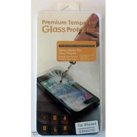 Vitre de protection en verre trempé iPhone 4/4s avec Boîte