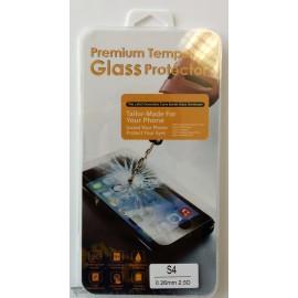 Vitre de protection en verre trempé Samsung Galaxy S4 avec Boîte