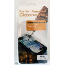 Vitre de protection en verre trempé Samsung Galaxy S5 Mini avec Boîte