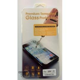 Vitre de protection en verre trempé Sony Z2 avec Boîte