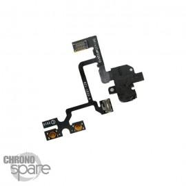 Nappe prise jack audio + vibreur noire iPhone 4