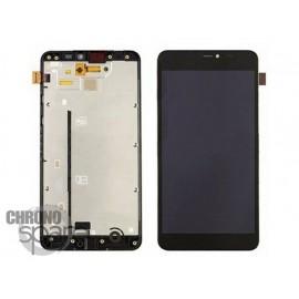 Bloc Vitre + LCD Nokia 640 XL Noir avec châssis