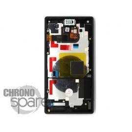Ecran LCD et vitre tactile avec châssis Noir Xperia Z5 Compact (officiel)