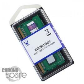 Barrette Mémoire Kingston 4Go DDR3 So-Dimm PC12800 1600Mhz