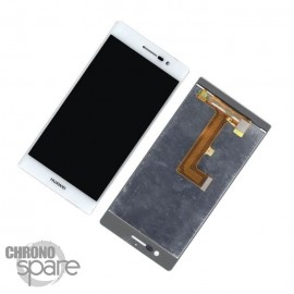 LCD + Vitre tactile blanche + chassis Huawei P7