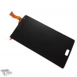 Ecran LCD +Vitre Tactile Noire + Chassis OnePlus 2