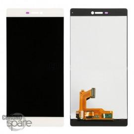 Ecran LCD + Vitre Tactile blanche Huawei Ascend P8