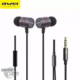 Ecouteurs Intra-auriculaires AWEI Q5i Noirs & Rouge