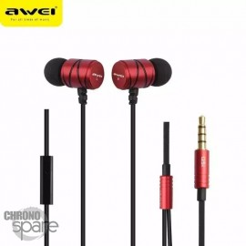 Ecouteurs Intra-auriculaires AWEI Q5i Rouge