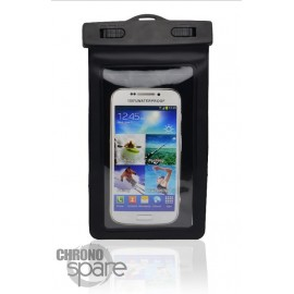 Pochette étanche noire pour smartphone 5.8 pouce